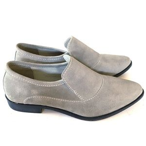 NEVER WORN Free People Brady Loafer Pale GreySuede